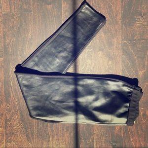 Michael Kors black faux leather leggings
